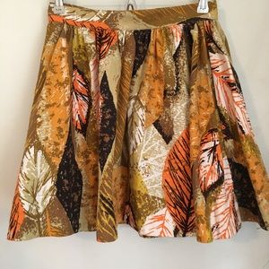 Tracy Feith Cotton Circle Skater Skirt Fall Colors